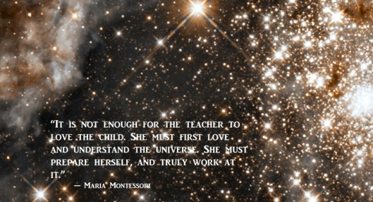 Montessori quote - teacher universe