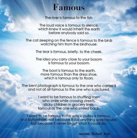 Famous - Naomi Shihab Nye